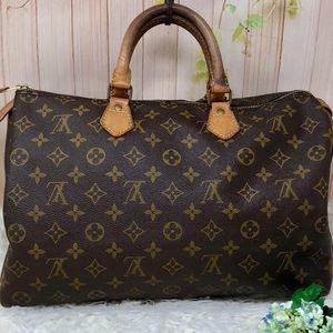 Authentic Louis Vuitton MoSpeedy 35 Satchel Bag